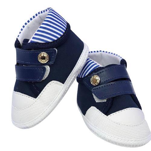 Sapato Baby Marinho Cano Alto