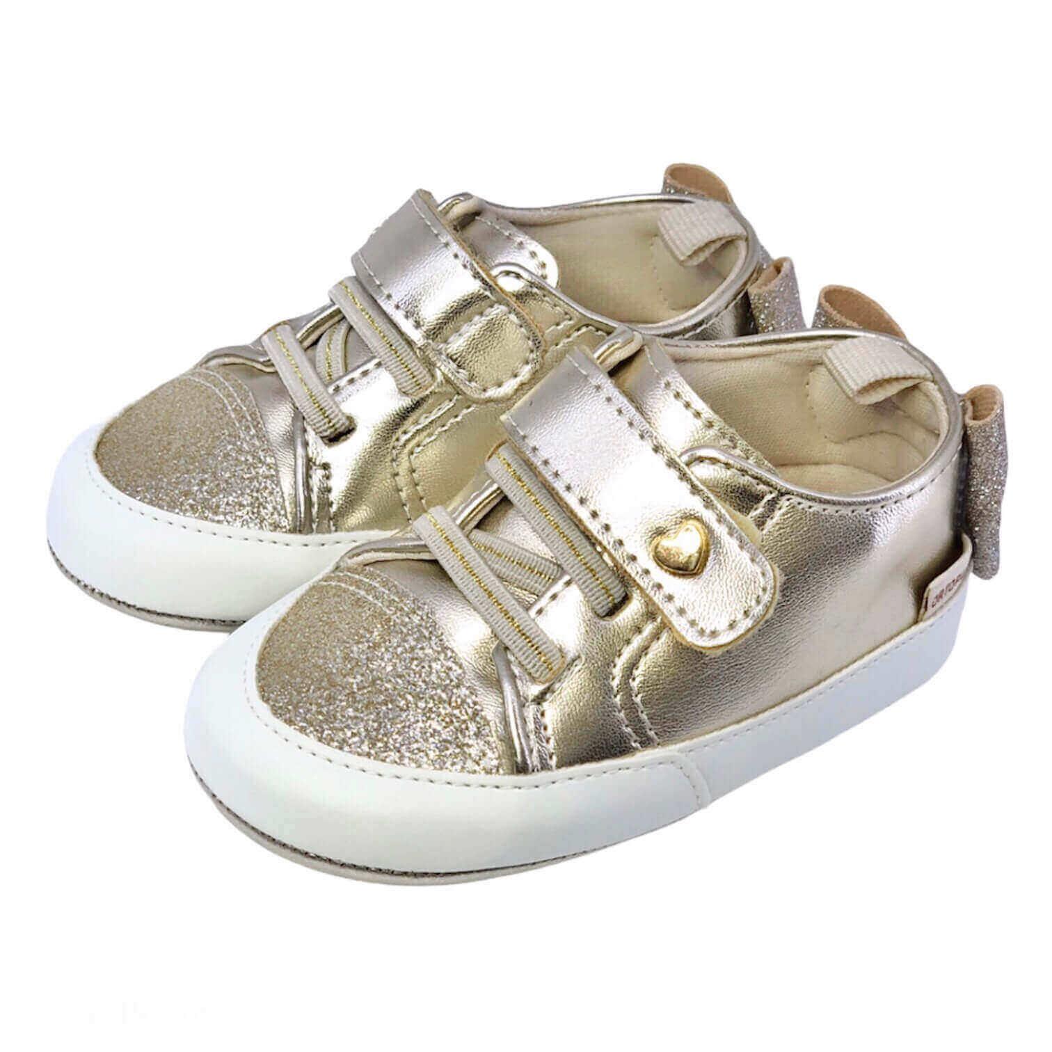 Sapato Isa Dourado