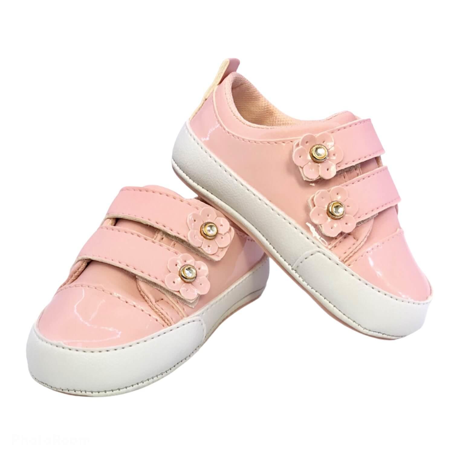 Sapato Rosa Velcro Bibi