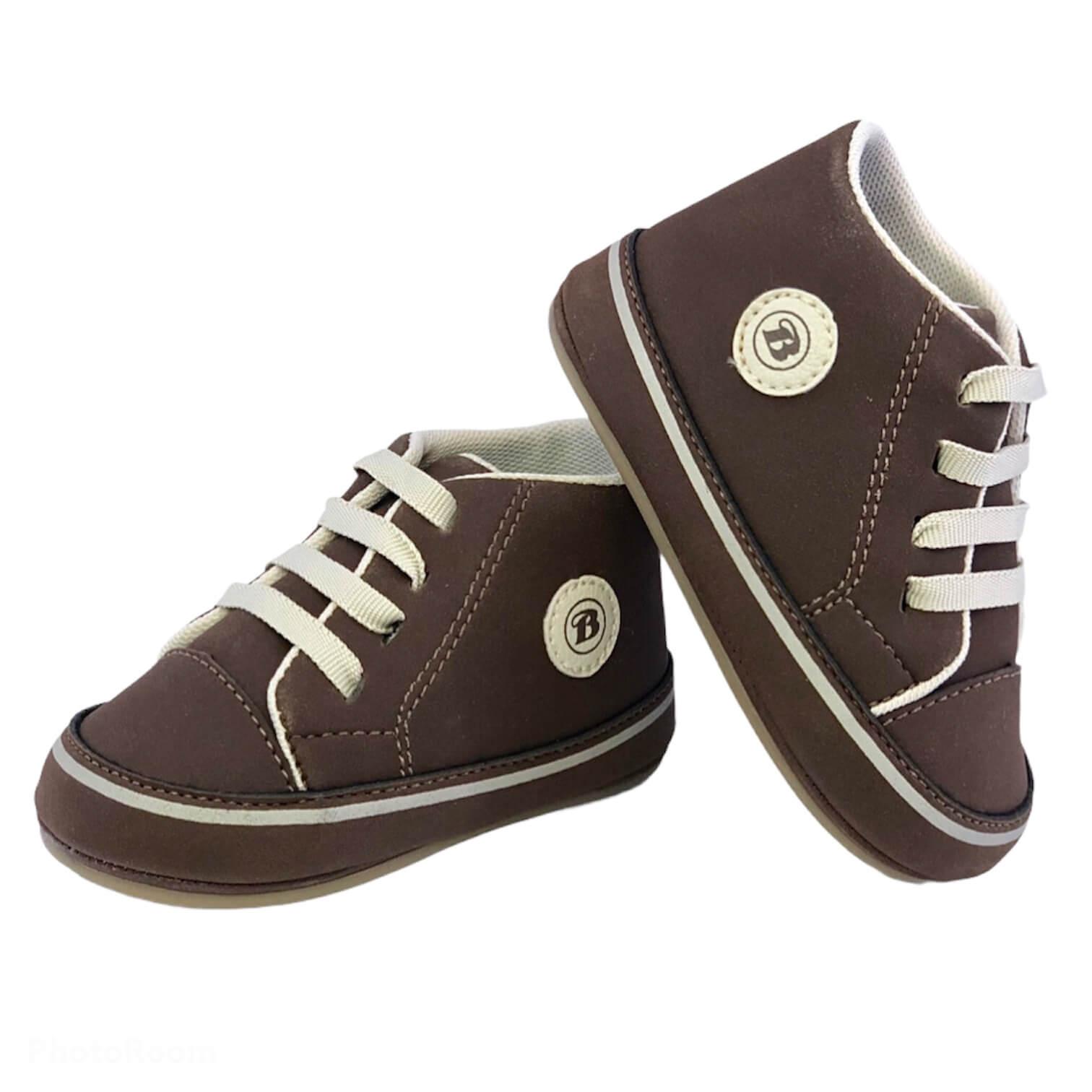 Sapato Stevy Marrom Cano Alto