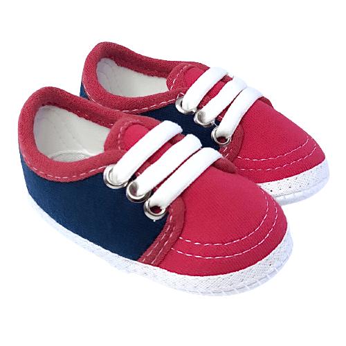 Sapato Vermelho e Azul Marinho