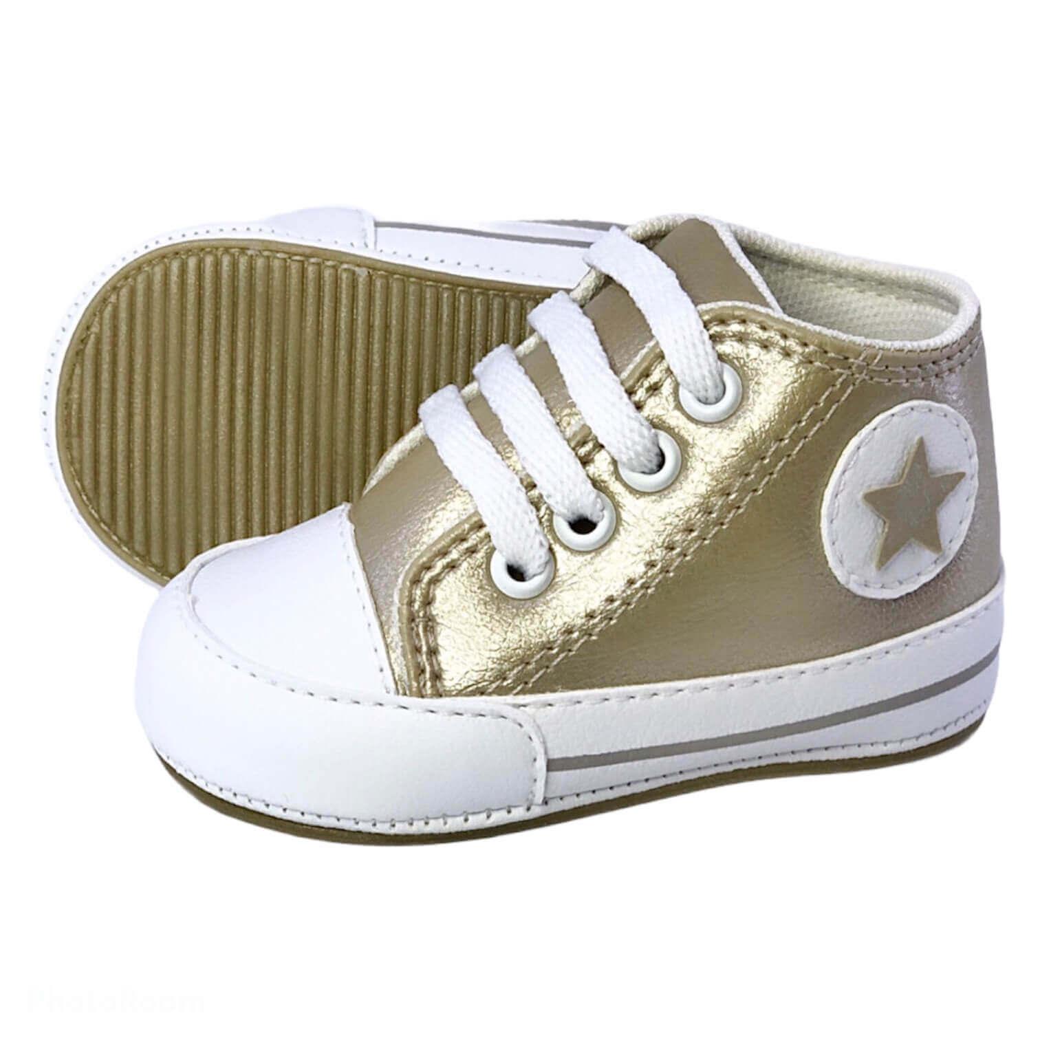 Tênis Star Dourado