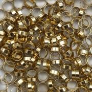 AC101 - Acessório Redondo 6mm Banhado Cor Dourado - 3Grs