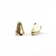 AC355 - Tulipa Chuveiro 9x7mm Banhado Cor Dourado - 10Unids