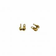AC438 - Tip Corrente de bolinha 1.5 Banhado Cor Dourado - 10Unids
