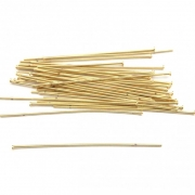 AC98 - Alfinete/Pino 5cm Banhado Cor Dourado - 5Grs