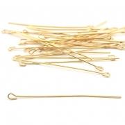 AC99 - ContraPino 5cm Banhado Cor Dourado - 5Grs
