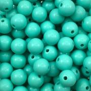 BOL175 - Bola Resina Verde Turquesa 10mm - 20Grs