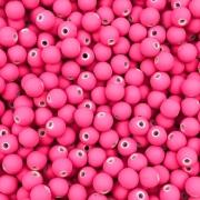 BOL185 - Bola Emborrachada Rosa Pink 6mm - 20Grs