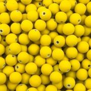 BOL192 - Bola Emborrachada Amarelo 8mm - 20Grs