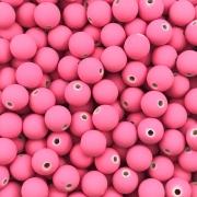 BOL196 - Bola Emborrachada Rosa Pink 8mm - 20Grs