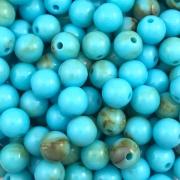 BOL254 - Bola Resina Azul Turquesa Glaciada 10mm - 20Grs