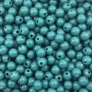 BOL301 - Bola Resina Verde Pavão 6mm - 20Grs