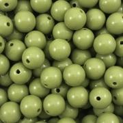 BOL329 - Bola Resina Verde Floresta 10mm - 20Gr