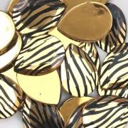 CHT1033 - Chaton Gota 18x25 Dourado Listrado - 4unids