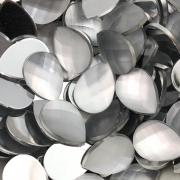 CHT108 - Chaton Gota 13x18 White Opal Fosco - 4Unids