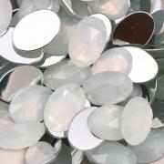CHT114 - Chaton Oval 13x18 White Opal - 4Unids