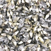 CHT1316- Chaton Navete Base Côncava Crystal 5x10 - 10unids