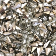 CHT1332  - Chaton Gota Base Côncava Crystal Blond Flare 6x10 - 10unids