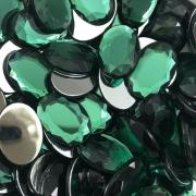 CHT1601 - Chaton Oval 13x18 Green Turmaline - 4Unids