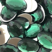 CHT1617 - Chaton Oval 18x25 Green Turmaline - 2Unids