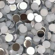 CHT1675 - Chaton Redondo 8mm White Opal - 10Unids