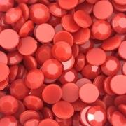 CHT1681 - Chaton Redondo 8mm Vermelho - 10Unids