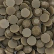 CHT1705 - Chaton Redondo 10mm Jade Khaki Quartz - 8Unids