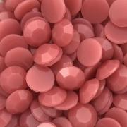 CHT1728 - Chaton Redondo 12mm Jade Goiaba Quartz - 6Unids