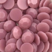 CHT1733 - Chaton Redondo 12mm Jade Rose Quartz - 6Unids