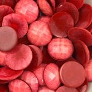 CHT572 - Chaton Redondo Vermelho 18mm - 4unids