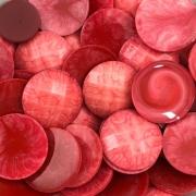 CHT574 - Chaton Redondo Vermelho 20mm - 4unids