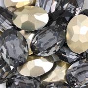 CHT629 - Chaton Oval 18x25 Base Côncava Black Diamond Oval - 2unids