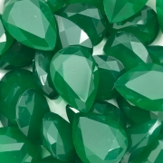 CHT649 - Chaton Gota 18x25 Base Côncava Green Turmaline - 2unids