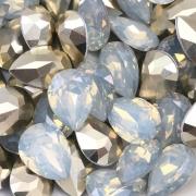CHT714 - Chaton Gota 13x18 Base Côncava White Opal - 2unids