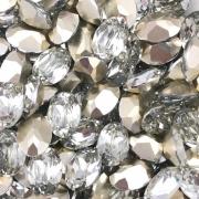 CHT735 - Chaton Base Côncava Cristal Oval 10x14 - 4unids