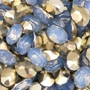CHT861 - Chaton Base Côncava Light Sapphire Oval 10x14 - 4unids