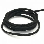 CM28 - Cordão de camurça 3mm Preto - 1metro