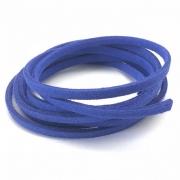 CM30 - Cordão de camurça 3mm Azul Caneta - 1metro