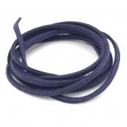 CM48 - Cordão de camurça 3mm Azul Marinho - 1metro