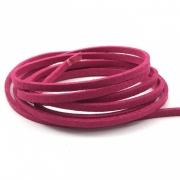 CM49 - Cordão de camurça 3mm Pink - 1metro