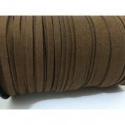 CM69 - Cordão de camurça 5mm Chocolate - 1metro