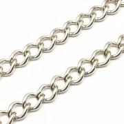 CR201 - Corrente de Alumínio 1.20 Elo Quadrado Níquel - 1metro