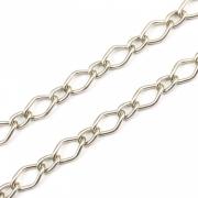 CR205 - Corrente de Alumínio 1.00 Balãozinho Níquel - 1metro