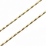 CR222 - Corrente Rabo de Rato 1mm Banhado Cor Dourado - 1metro