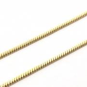 CR260 - Corrente Rabo de Rato 2mm Banhado Cor Dourado - 1metro