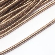 CRM001 - Cordão Revestido Metalizado de Poliester 4mm Rose Gold - 1metro