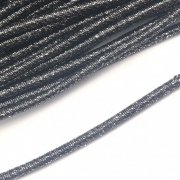 CRM003- Cordão Revestido Metalizado de Poliester 4mm Grafite - 1metro