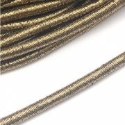 CRM013 - Cordão Revestido Metalizado de Poliester 6mm Ouro Velho - 1metro