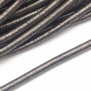 CRM015 - Cordão Revestido Metalizado de Poliester 6mm Chumbo - 1metro